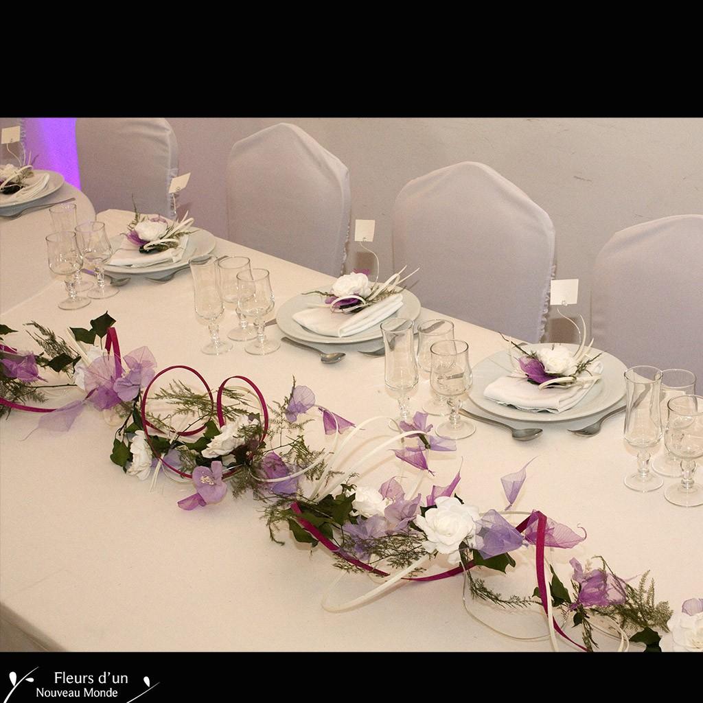 décorations | chemin de table lilas