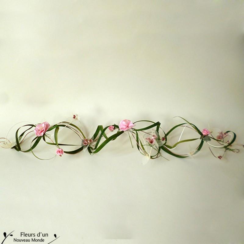 D corations chemin de table tendresse - Chemin de table fleurs naturelles ...